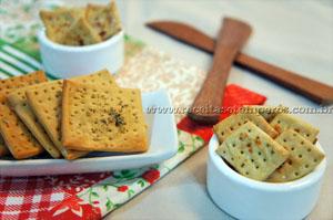biscoito cream creacker caseiro