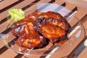 Asinhas de frango ao molho barbecue