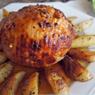 Peito de Peru Bolinha com molho de laranja