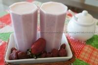 Suco de Morango com leite em pó