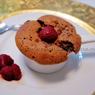 Suflê de Chocolate com calda de Framboesa