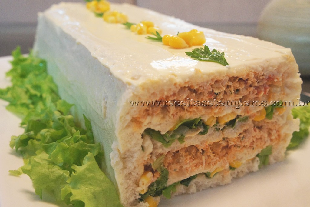 Torta fria de Frango deliciosa