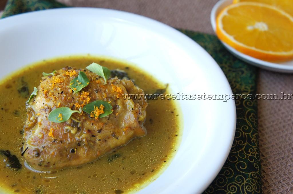 Frango ensopado ao Curry