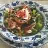 Salada de Figo com Gorgonzola e Presunto Parma