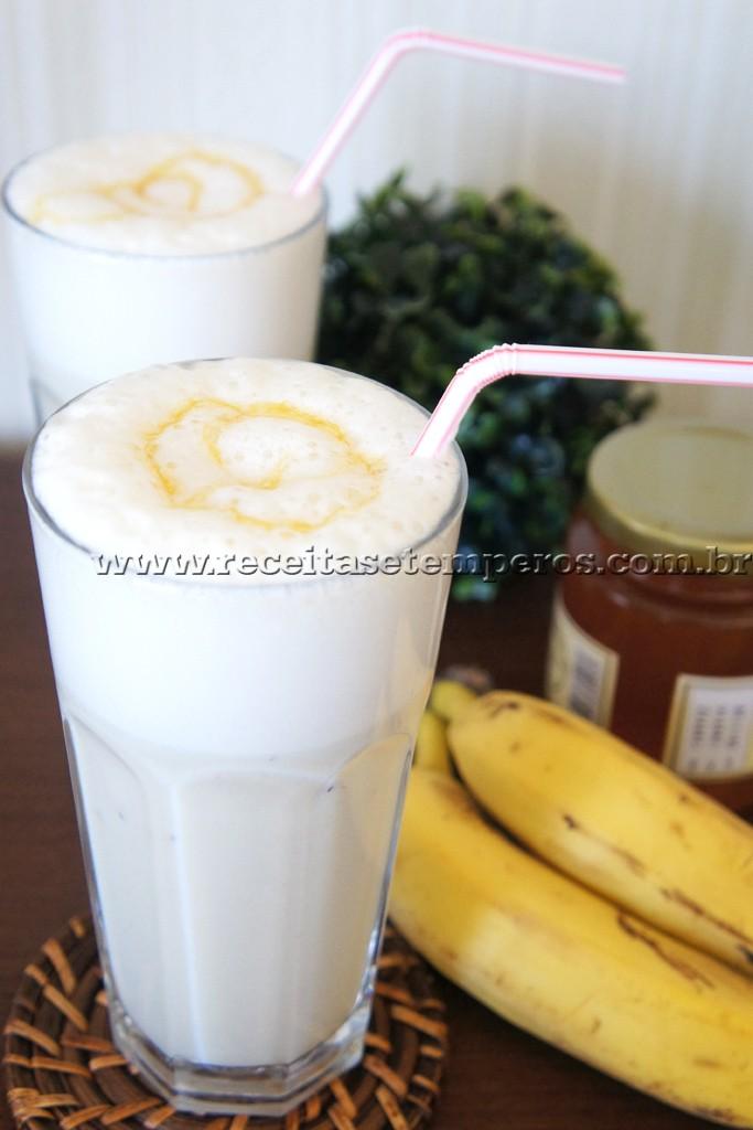 Vitamina de Banana com Mel
