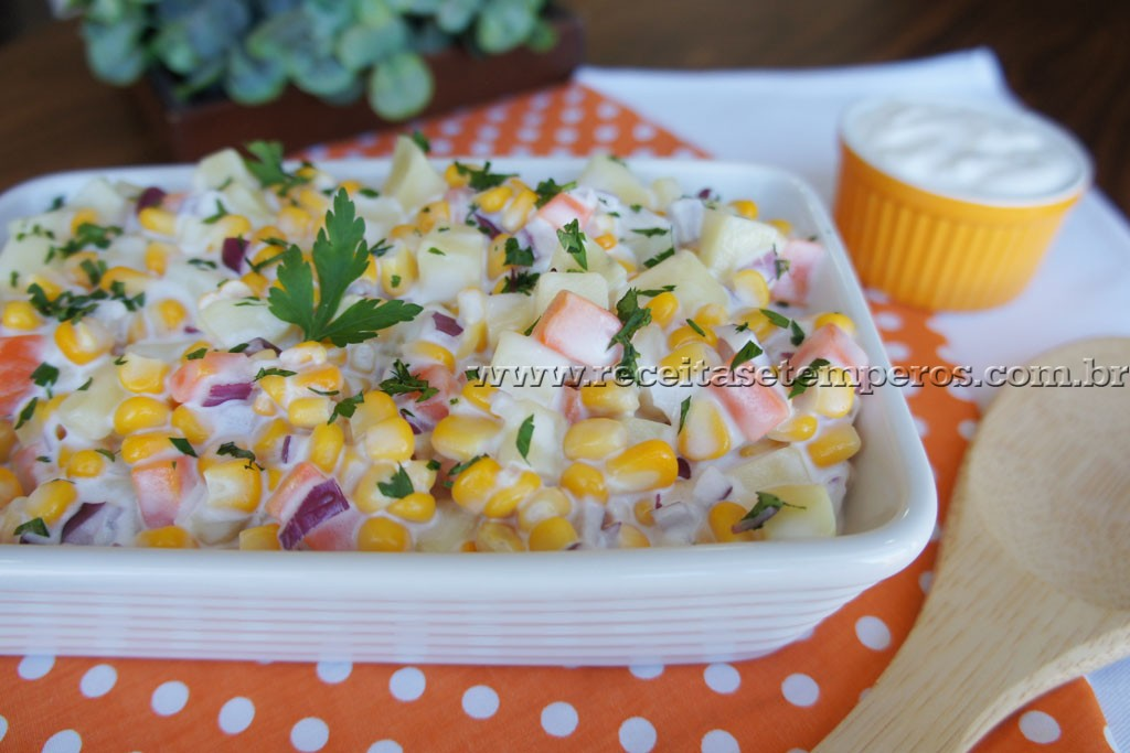 Salada de Batata com Maionese Caseira
