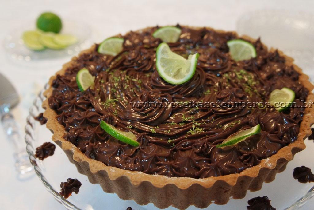 Torta de Chocolate com Limão