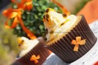 Cupcake de maracujá com chocolate branco