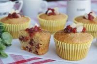 Muffin de Amêndoas com Morango sem glúten