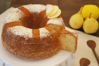 Bolo de pera com limão siciliano