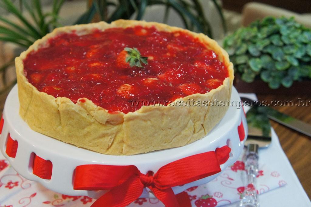 Torta de morango artesanal