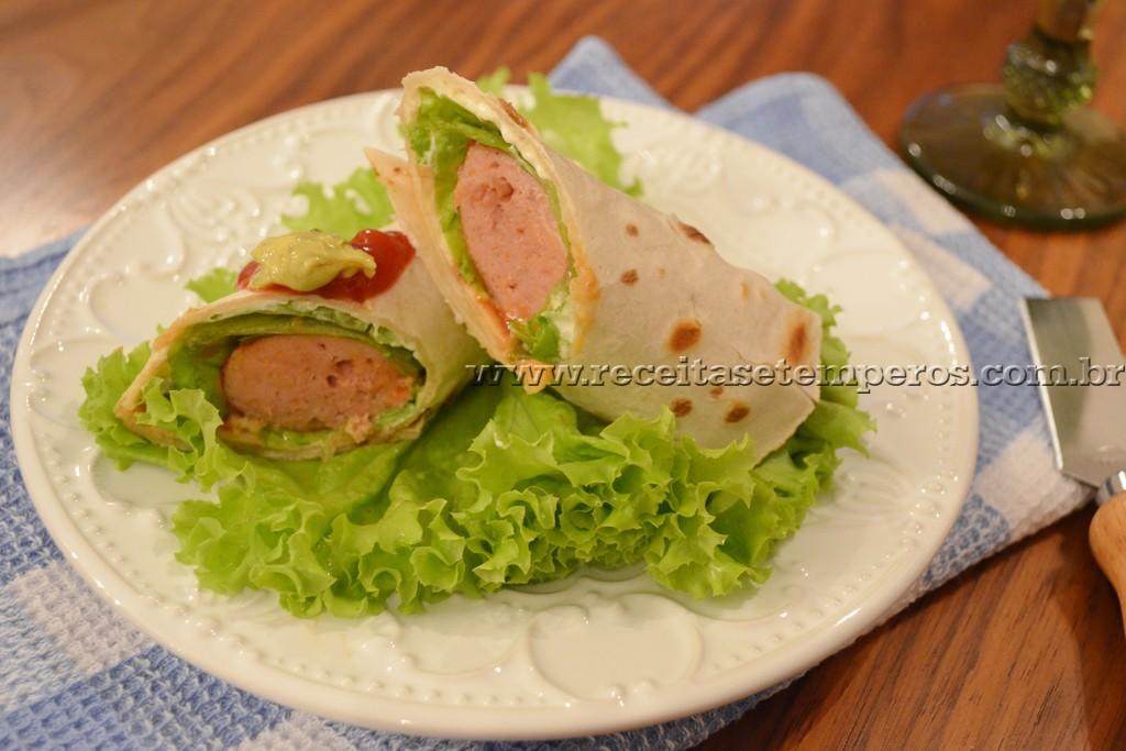 Wrap Hot Dog