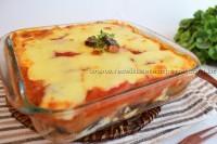 Torta de berinjela com sardinha