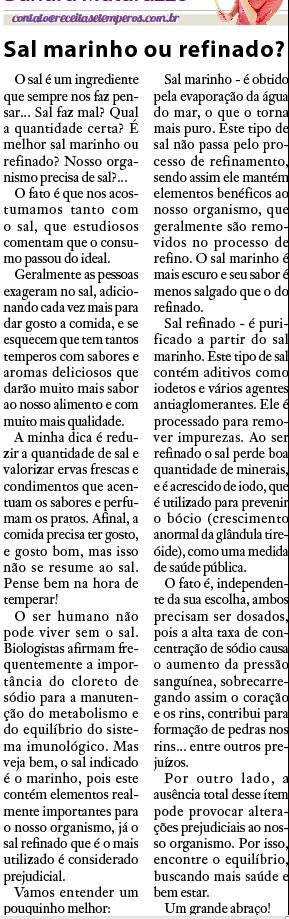 Sandra Matarazzo no jornal Visão Oeste em maio