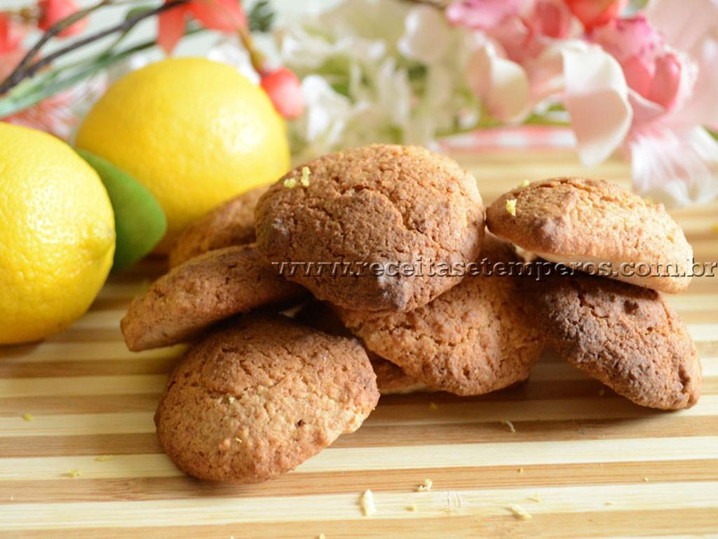 Biscoitos de limão sem glúten