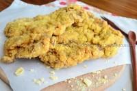 Milanesa com farinha de milho