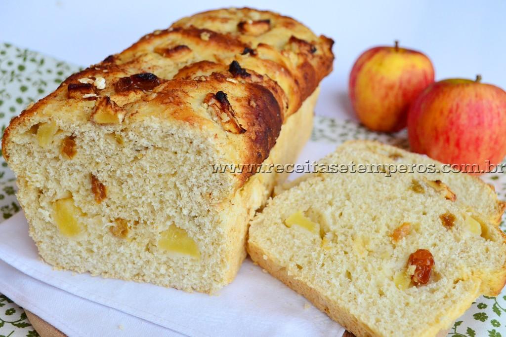 Pão de aveia e maçã