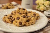 Cookies de banana com aveia e gotas de chocolate