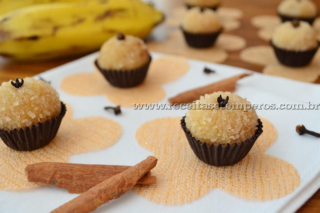 Brigadeiro gourmet de banana