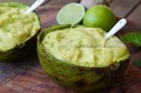 Creme de abacate com limão