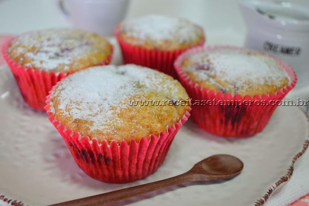 Muffin de frutas vermelhas