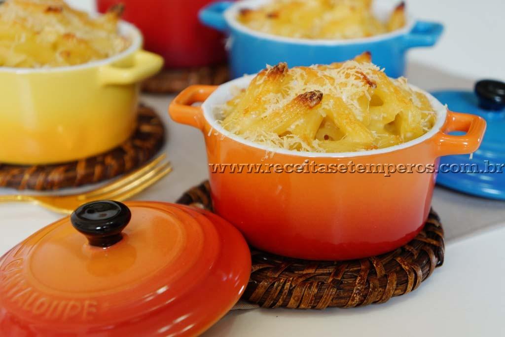 Macarrão com queijo gratinado (Mac & Cheese)
