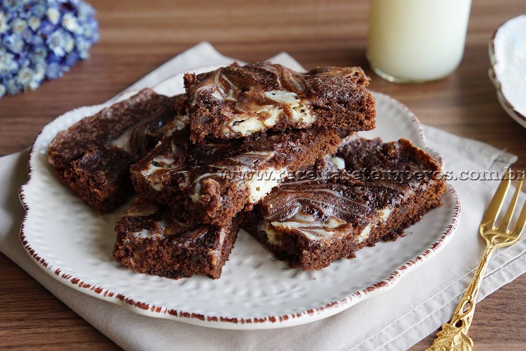 Brownie marmorizado