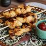 Espetinho de frango com especiarias
