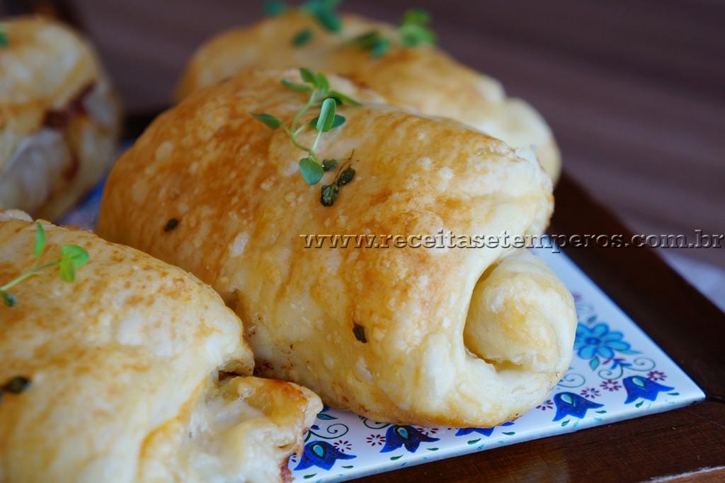 Folhadinho de queijo e presunto