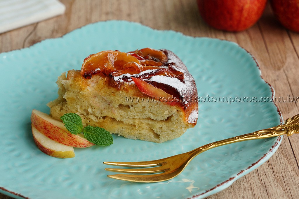Bolo de maçã - de frigideira