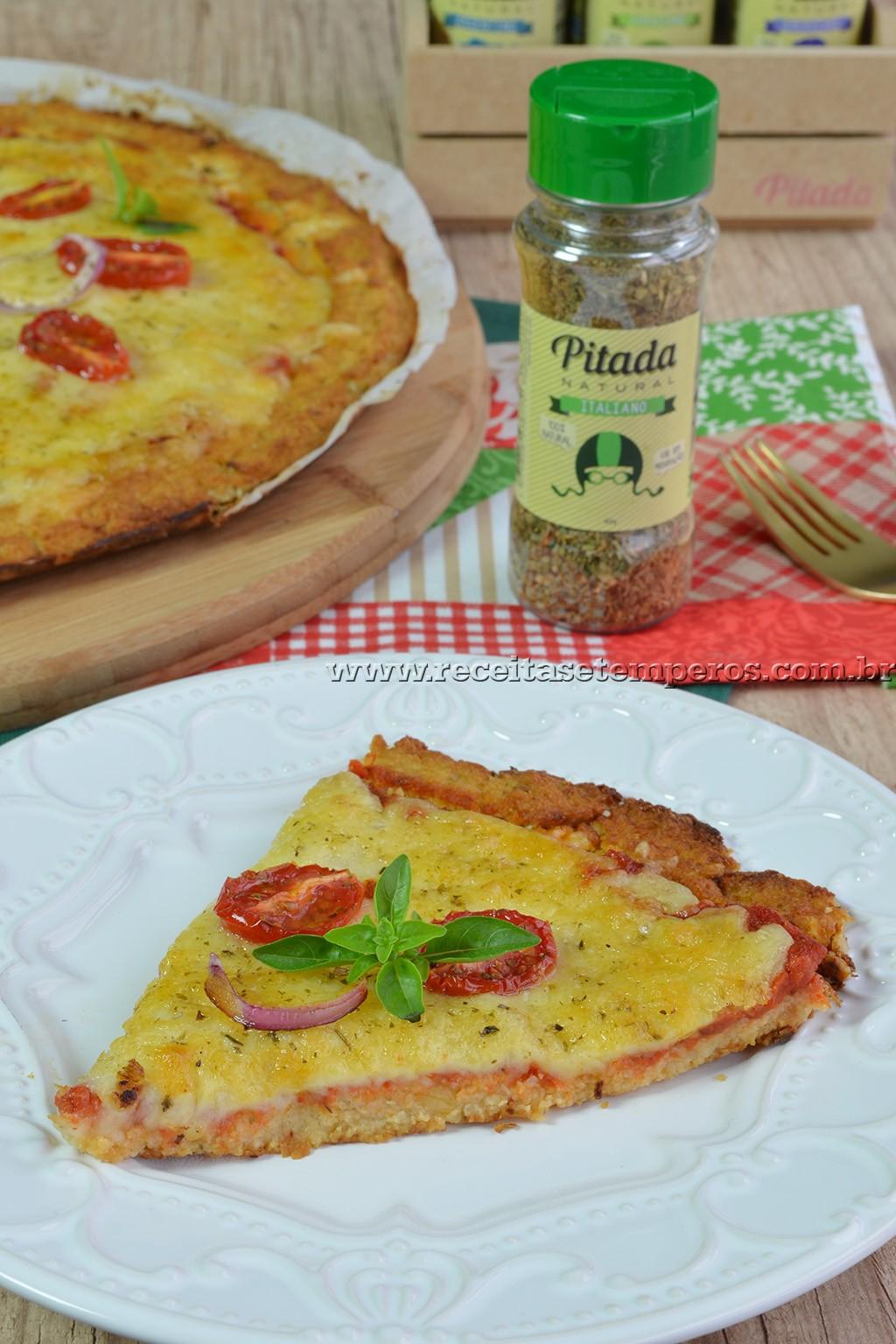 Pizza sem glúten (com massa de couve-flor)