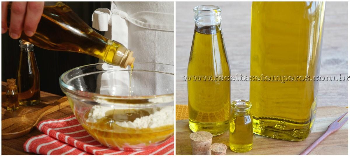 Azeites de Oliva e Empadinha de palmito (massa de azeite de oliva)