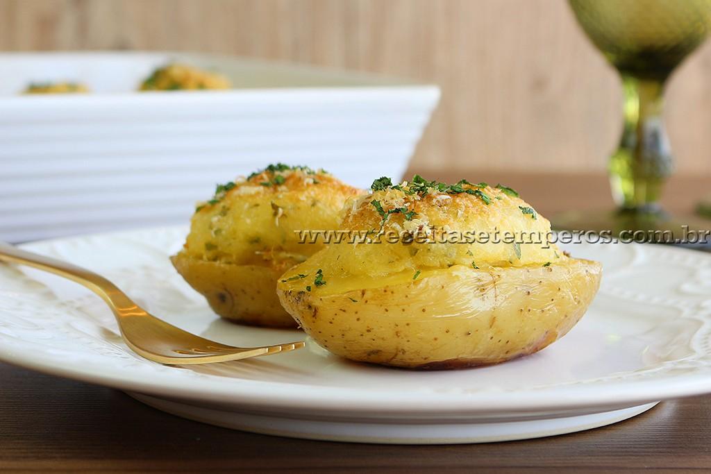 Batata Recheada com Bacalhau