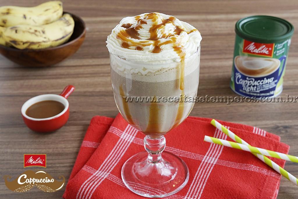 Frappé Cappuccino com Banana
