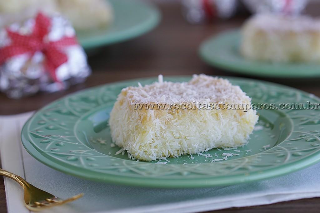 Bolo gelado de coco – Toalha Felpuda