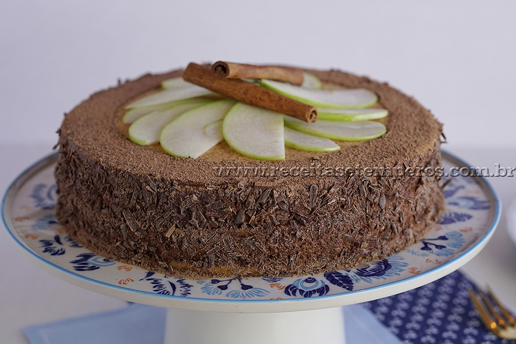 Torta Mousse de Chocolate com Maçã / Torta Mozart